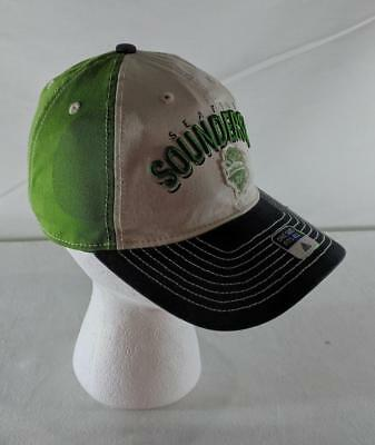 68128b44fa6 LZ Adidas Adult One Size Seattle Sounders FC Soccer MLS Baseball Cap Hat  NEW y
