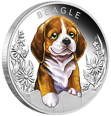 2018 1/2 oz Silver Proof Coin Puppies - Beagle