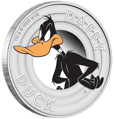 2018 1/2 oz Silver Proof Coin Looney Tunes DAFFY DUCK