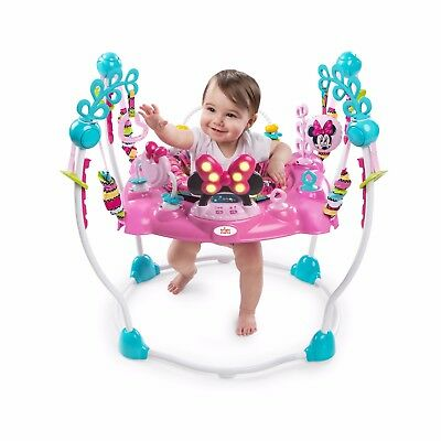 Disney Minnie Mouse Activity Jumperoo Baby Jumper Swing Bouncer Rocker & Sounds.