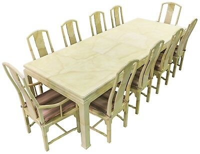 Complete Henredon Dining table set with two server cabinets and China cabinet