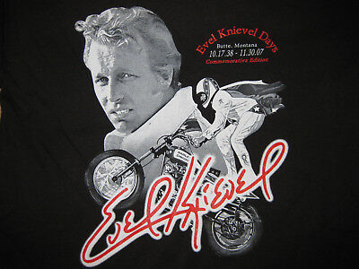 "Evel Knievel Commemorative ""Concert style"" T-Shirt! FINAL STOCK SALE $11 each!!"