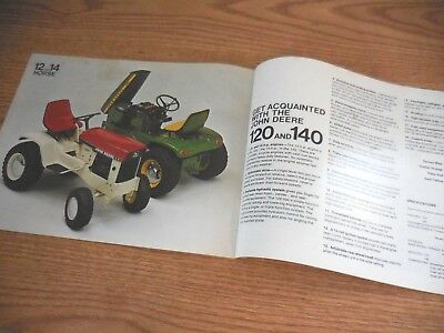 John Deere 70 110 112 120 140 Patio Lawn Garden Tractors Equipment Brochure 1969