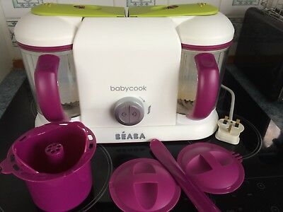 Beaba Babycook Plus Double Steamer/Blender/Defrost/Reheat Purees Weaning