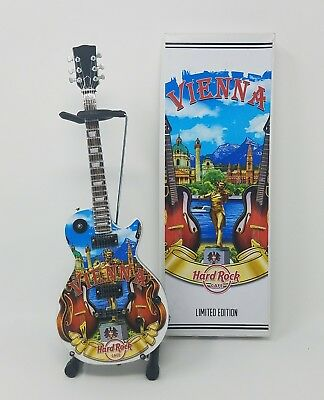"Hard Rock Cafe 11"" Collectible Mini City Vienna Limited Edition Guitar"
