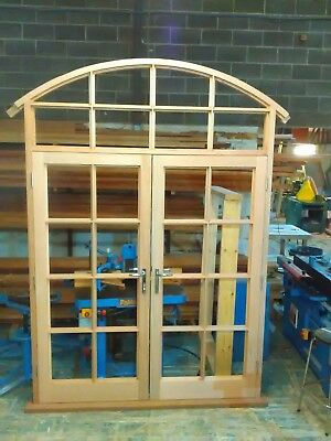 Wooden Timber French Door With Arched Top !!! Made To Measure!!!Bespoke!!!