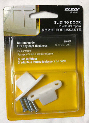 Prime-Line Floor-Mounted Bypass Door Plastic Bottom Guides (2-Pack)