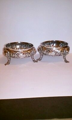 Antique Dublin Silver Salts, 1765.
