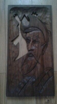 Beautiful Wood Carving of a Man