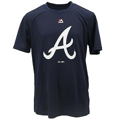 Atlanta Braves MLB Majestic Cool Base Youth Size Athletic T-Shirt New with Tags