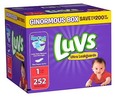 Luvs Ultra Leakguards Diapers Size 1 (Choose Your Count) **FREE SHIPPING**