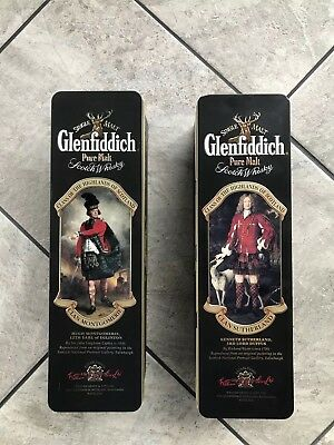 Glenfiddich Whisky Tins. Clans Of The Highlands