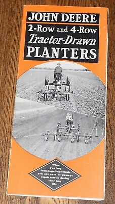 1935 John Deere 2&4 Row Tractor Drawn Planter 919 999 Advertising Brochure Corn