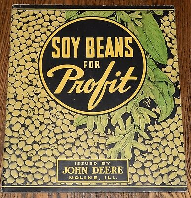 1936 John Deere Advertising Brochure Plow Disk Harrow Bean Drill Planter Combine