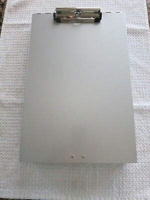 """Aluminum Metal Clipboard Storage 13.5"""" X 9"""" X 1.5"""" with 2 Compartment"""
