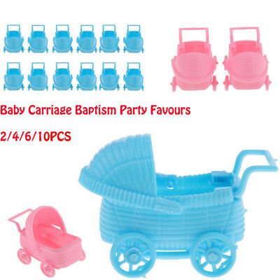 1/2/3/5 Pair Mini Baby carriage Shower Baptism Party Christening Favours Plastic