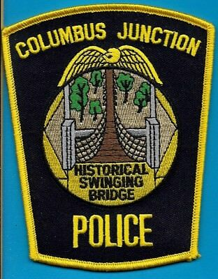 Columbus Junction Iowa Police Dept Cpd Jpd Pd Historical Swinging Bridge