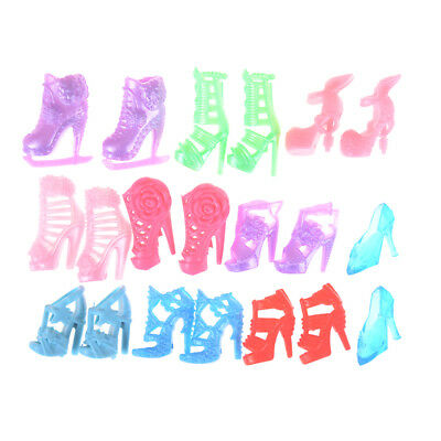 10pairs Fashion Party Daily Wear Dress Outfits Clothes Shoes For Barbie Doll JR