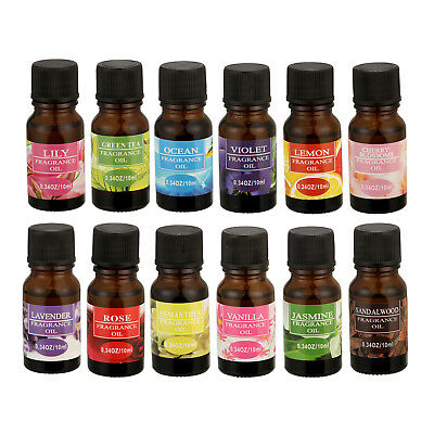 Essential Oil Diffuser 100% Pure Natural Organic Water Solubility Oil 12 Flavor