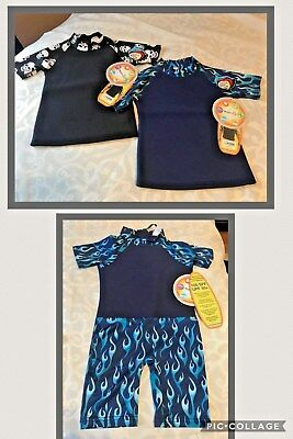 NeoSkinz Kids 100 SPF/50+ UPF Wet Suit RASH GUARD TOP or 1 PIECE SUIT~Size 6~NWT