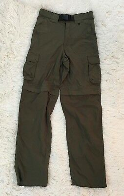 Boy Scouts Switchback Uniform Pants Green Zip Off Size Youth Large