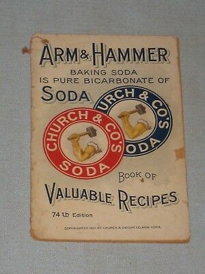 1921 Cook Book Arm & Hammer Book Of Valuable Recipes