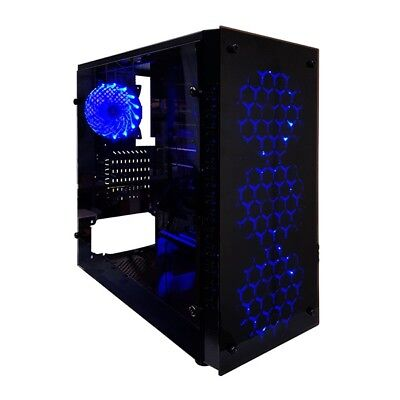 Rotanium (Temper-TG201) Tempered Glass Full Tower Black Gaming Case without PSU