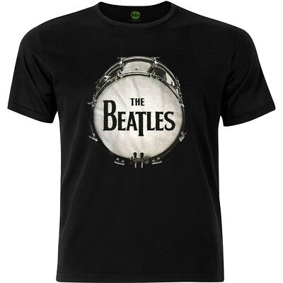Large Black Men's The Beatles Drum T-shirt - Mens Tshirt