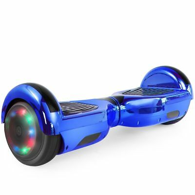 "Self balancing ride Chrome Electric scooter Hoverboard Bluetooth led 6.5"" UL new"