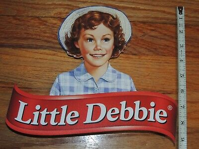 Official Little Debbie Plastic Store Display Sign Advertisement Rare Collectible