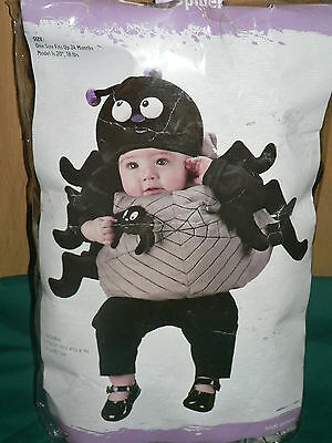 SPIDER Halloween costume plush - black gray - up to 24M infant baby - NEW