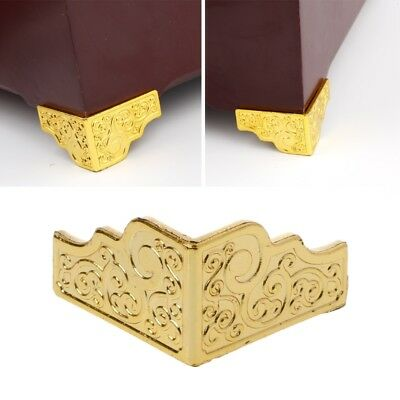 20PCS Gold Jewelry Box Wood Case Decorative Feet Leg Corner Furniture Protector
