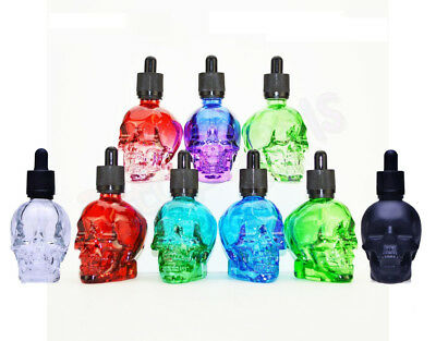 Skull Glass Dropper Bottle Liquid Fragrance Perfumes essential oil Container