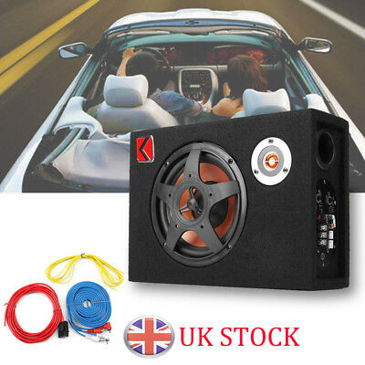 480W 8'' 12V Under-Seat Car Audio Subwoofer Bass Box Ultra-Thin Modified Speaker