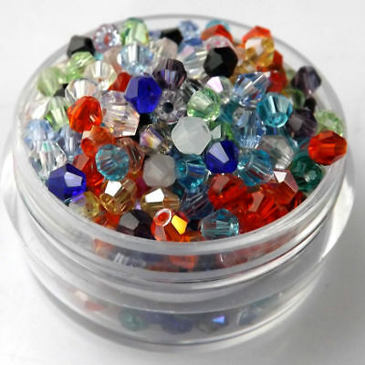 1000pcs 2/3/4mm Austria Glass Crystal Bicone Loose beads 5301 DIY Jewelry making