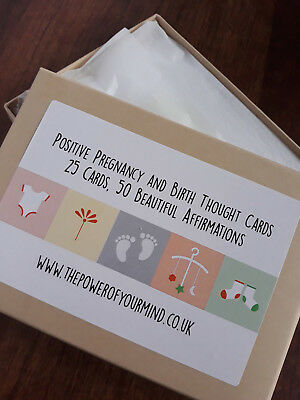 Postive Pregnancy and Birth Affirmation Thought Cards Hypnobirthing Natural Home