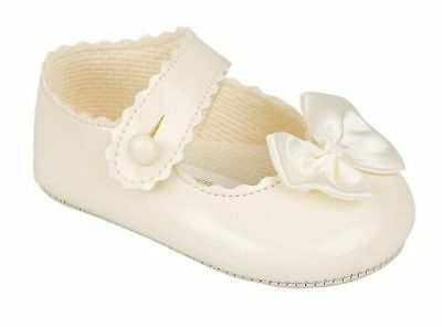 Baby girls ivory cream summer christening shoe 3-6-9-12-18 months size 1 2 3 4