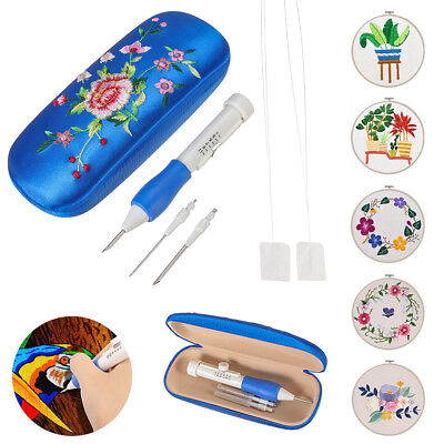DIY Embroidery Pen Set Punch Needle Kit Knitting Sewing Craft Crochet Felting