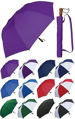 "58"" Collapsible Golf Umbrella - RainStoppers Rain/Sun UV Travel"