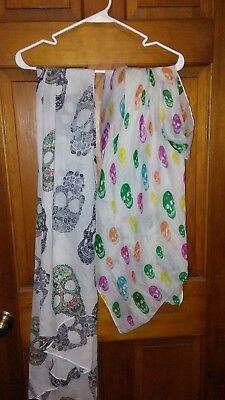 LOT of 2 Skull Scarves