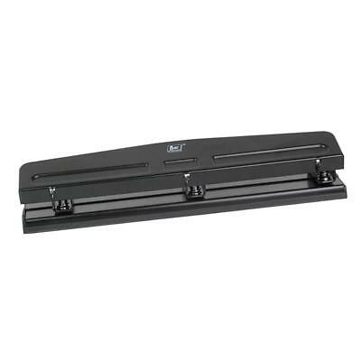 Heavy Duty 3-Hole Punch for Book Binder Punch Handcraft Punch Tool -Black