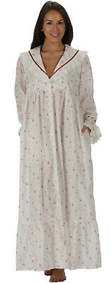 "100% Cotton Nightgown / Housecoat - Amelia ""VR"" - Sizes S- 4XL"