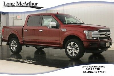 Ford F-150 PLATINUM 4X4 10 SPEED AUTOMATIC SUPER CREW CAB 4WD MSRP $61980 4WD 4 DOOR HEATED COOLED FRONT SEATS, 2ND ROW HEATED SEAT, HEATED STEERING WHEEL
