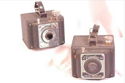 Vagabond traveler 120 vintage film camera pair PHO TAK corporation. vgc as is