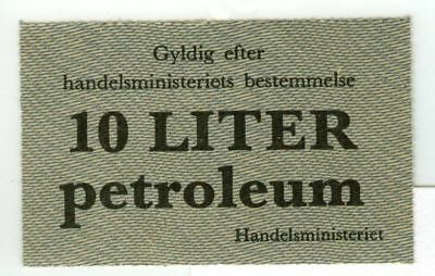 Occupation in Denmark Voucher for ten (10) Liters of Petroleum British Printed?