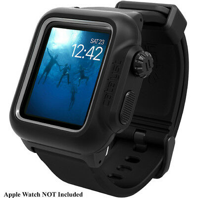 Catalyst Waterproof Case/Band for 38mm Apple Watch Series 2 & 3 (Stealth Black)
