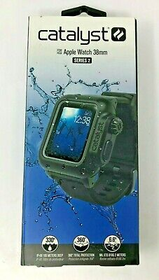 Catalyst Waterproof Case/Band (Stealth Black) for 38mm Apple Watch Series 2 & 3