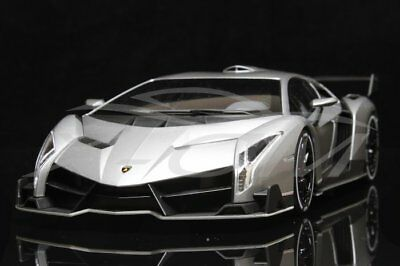 Car Model Kyosho Lamborghini Veneno Roadster 1:18 (Gray/Red Line) +
