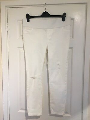 New Look Maternity White Skinny Under Bump Jeans Size 14