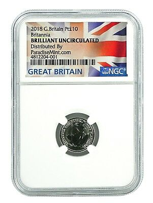 2018 Great Britain 1/10th Oz Platinum Britannia NGC Brilliant Uncirculated